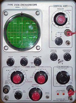 panne oscilloscope tektronix
